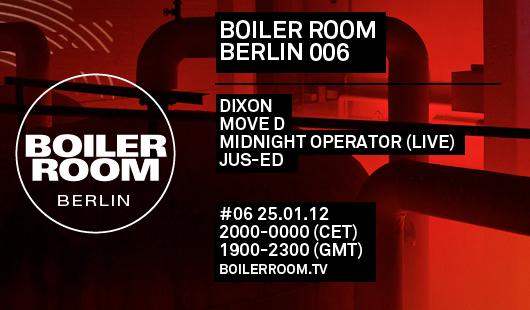 Dixon Boiler Room Berlin